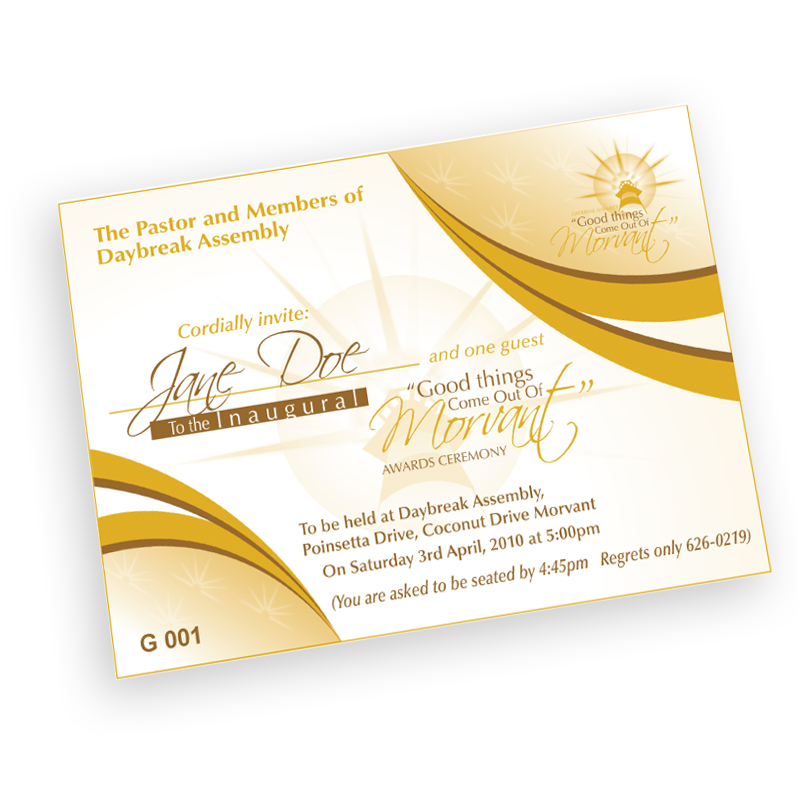 Print on demand digital offset printing trinidad tobago caribbean award ceremony invitation barcode form stopboris